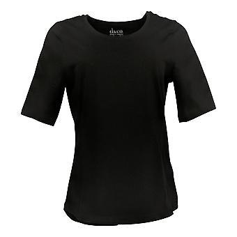 Denim & Co. Women's Top Essentials AnyWear Jersey Black A378932