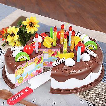 Kjøkken, Kake Mat Diy Late Spille, Frukt Kutte Bursdag Leketøy For, Tre