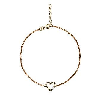 With Love - Tender Heart Icons Bracelet - 16cm + 2cm extender - Gold - Jewellery Gifts for Women from Lu Bella