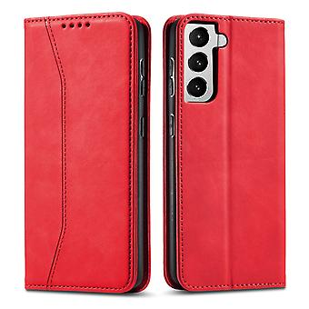 Flip folio leather case for samsung a50 red pns-1598