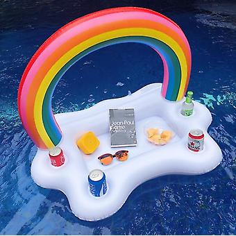 Inflatable Rainbow Ice Bar, Cloud Coaster Tray, Fake Pool Party