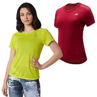 New Balance Womens 2021 Impact Run Short Sleeve Lightweight Reflective T-Shirt