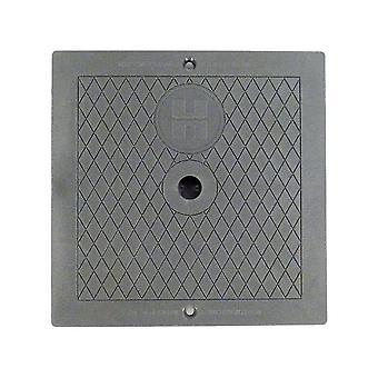 Hayward SPX1082EDGR vierkante Cover - donker grijs voor automatische Skimmers