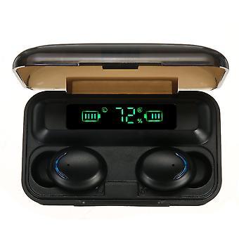 Bakeey f9 tws bluetooth 5.0 earphone smart touch power bank mini earbuds ipx7 waterproof headphone with mic