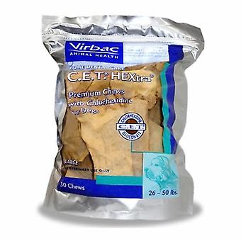 Virbac C.E.T Enzymatic Oral Hygiene Chews for Large Dogs, 30 Count