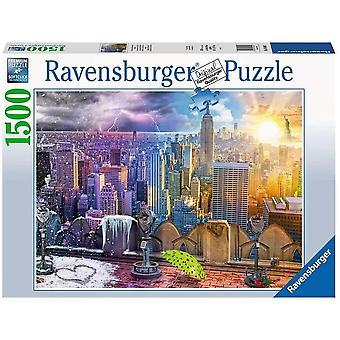 Ravensburger New York Sommer og Vinter 1500 Stykke Puslespill