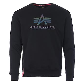 Alpha Industries Rainbow Print Crew Neck Sweatshirt - Black