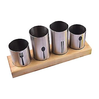 Pipes Cutlery Holder with 3/4 Brackets(4 Brackets)