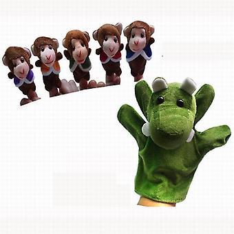 Kinderliedje Poppen Vijf Kleine Apen Swing In Een Boom Pluche Vinger Poppen Voor Kinderen /Studenten