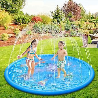 Garten Wassermatte Wassersprinkler Wasserspielzeug für Kinder Baby und Hund im Sommer (Delphin-N)