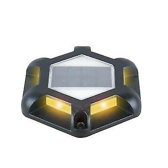 Ulkona aurinko vedenpitävä maanalainen valo, 6 LED-puutarha Askelvalot (musta)