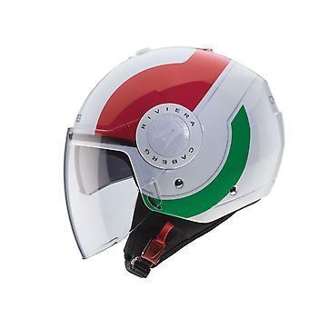 Caberg Riviera Sway Italia Motorcykelhjälm Vit/Grön/Röd