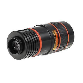 CL-19B85 4 in 1 8X Teleskooppi Zoom Fisheye Laajakulma makrolinssi matkapuhelimen tabletti