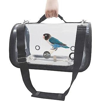 Bird Carrier Portable Pet Bird Parrot Travel Bag Transparent Breathable Cage Lightweight Pets Birds Travel Cage (small(14inx8inx8in))