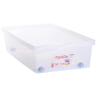 Eda Plastic 33 L Storage Box With Wheels