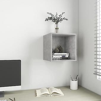 vidaXL armoire murale gris béton 37x37x37 cm panneau de particules