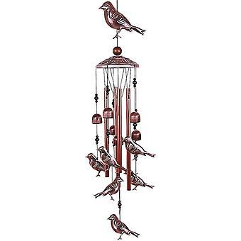 Bird Wind Chimes waterdichte metalen windbellen met aluminium buizen romantische hangende decoraties