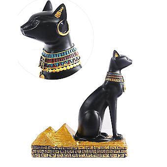 Wine Rack Statue Egyptian Cat Bottle Holder Stand Ancient Egypt Mysterious Craft Home Bar