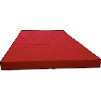 Vieraspatja - retkeilypatja - matkapatja - taitettava patja - 120 x 200 x 10 - punainen