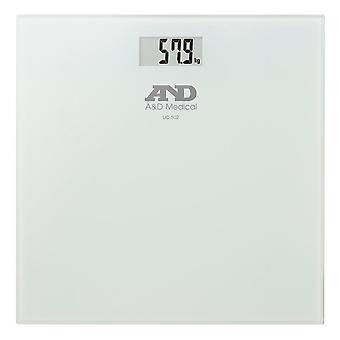 مقياس وزن الصحة الدقيقة A&D UC502 مع لوحة زجاجية - أقصى وزن 180 كجم