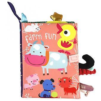 Farm Fun Vauvan pehmeä kangas Lukee kirjoja Taapero Varhainen oppiminen Cognize Lelu