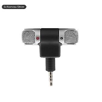Mini tragbares Mikrofon digitales Stereomikrofon Stereo-Recorder für Telefon professionelles Mikrofon mit 3,5 mm