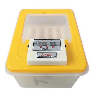 Splitter nye 16eggs inkubator inkubator med klar digital temperaturkontroll og automatisk rotasjon