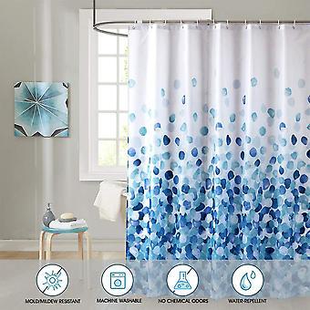 シャワーカーテンセットバスルームファブリックは、防水、カラフルで興味深い、標準サイズ72 X 72(青い花びら)です。