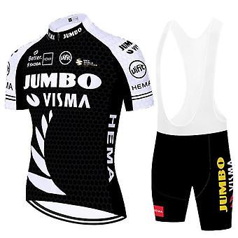 2021 Sommer mænd kortærmet cykling Jersey Maillot Ciclismo Anti-uv shirt cykel hagesmæk shorts Mtb Road Cykeltøj Sæt