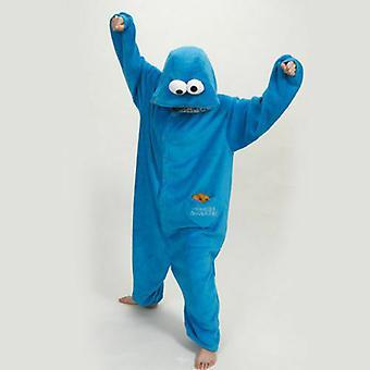 Sesame Street Cookie Monster Blue&red Elmo Costume Pajamas-1