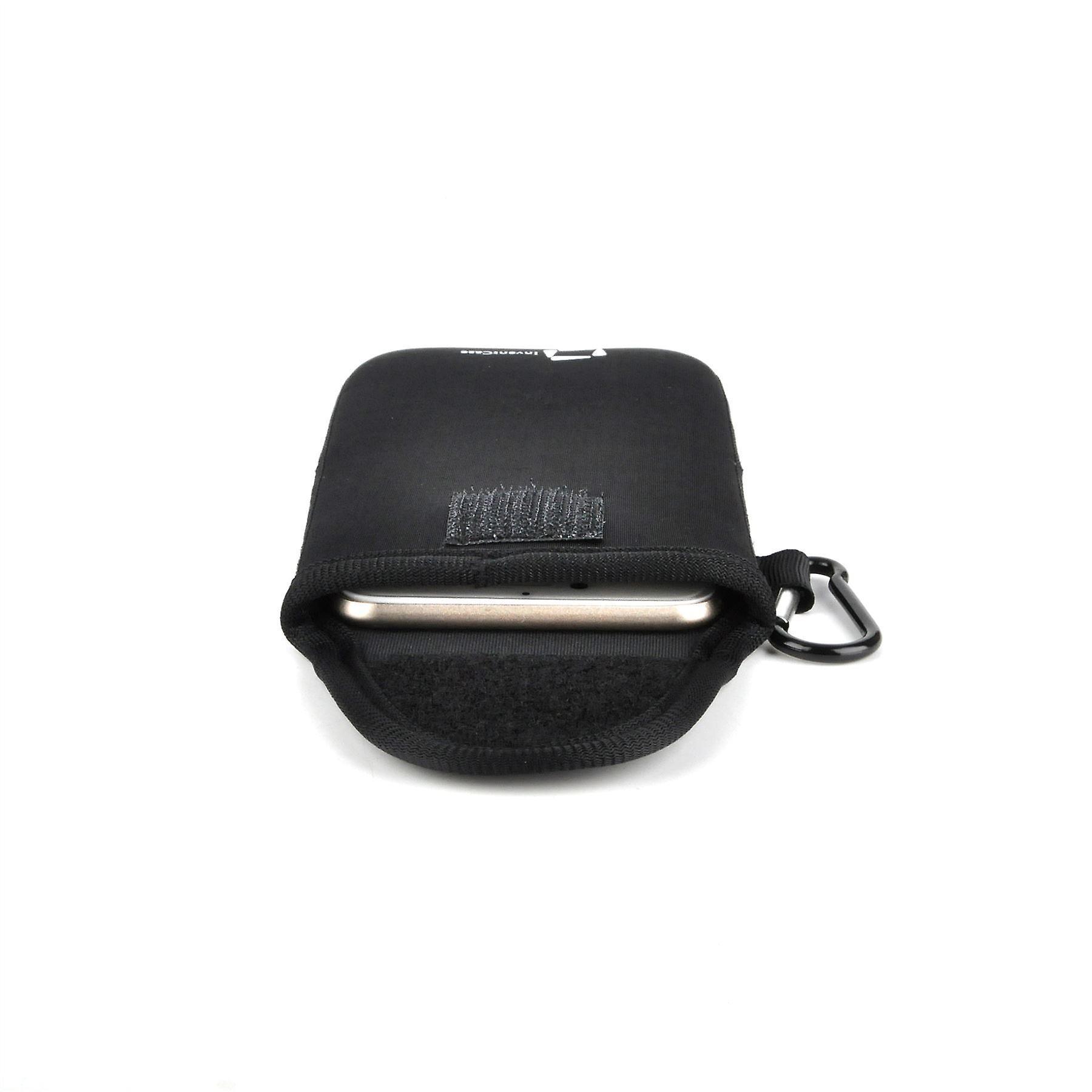 كيس تغطية القضية الحقيبة واقية مقاومة لتأثير النيوبرين إينفينتكاسي مع إغلاق Velcro والألمنيوم Carabiner لل جي K4 LTE-أسود