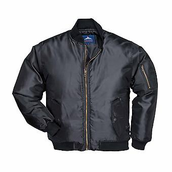 Portwest - Classic Style Lined Padded Waterproof Nylon Pilot Jacket