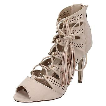 Anne Michelle encaje señoras sandalia tacones altos F10475