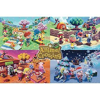 Animal Crossing - Four Seasons Poster Plakat-Druck
