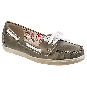 Fleet & Foster Womens Melbeck Ladies Lightweight Boat Shoe Green