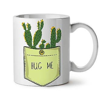 Hug Me Cactus Funny NEW White Tea Coffee Ceramic Mug 11 oz | Wellcoda
