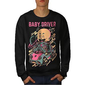 Baby Driver Men BlackSweatshirt | Wellcoda