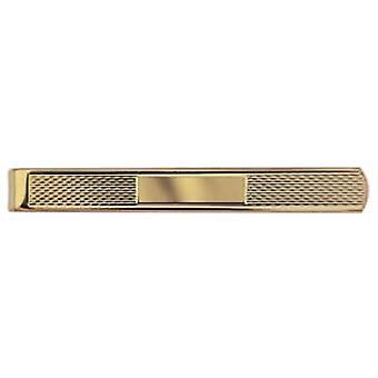 Hard Gold Plated 6x55mm engine turned barley infill centre space Tie Slide