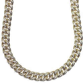 18k Gold Plated CZ Iced Out Miami Cuban Chain 10mm x 30 Inch