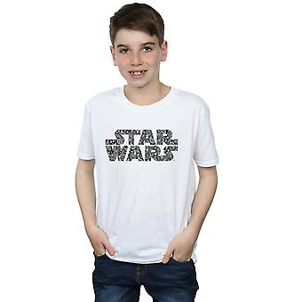Star Wars Boys Paisley Logo T-Shirt