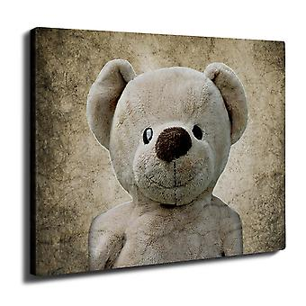 Cute Plush Wall Art Canvas 40cm x 30cm | Wellcoda