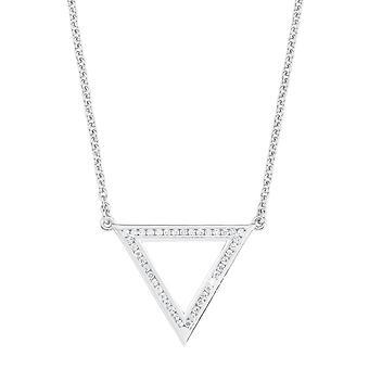 s.Oliver juvel damer kedja halsband silver Zyrkonia triangel 2012498