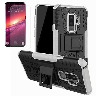 Hybrid case väska 2 bit SWL vitt för Samsung Galaxy S9 plus G965F + TPU tank protector