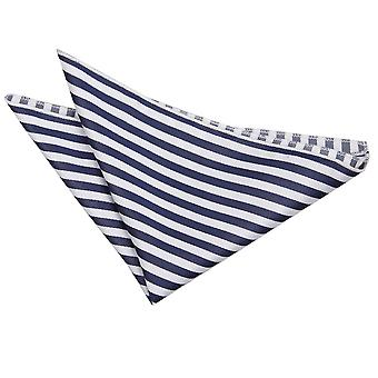 Wit & Navy Blue dunne streep zak plein