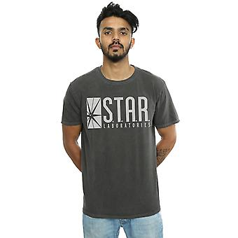 DC Comics Men's The Flash STAR Labs Washed T-Shirt