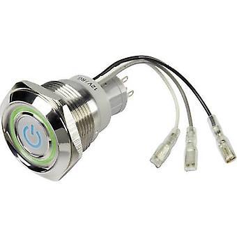 TRU-Komponenten LAS1-AGQ30-11Z/B/RG 12V Taster wechseln 250 V AC 3 1 X Off/On Klinke 1 PC