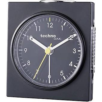 Techno Line Model Q schwarz Quartz Alarm clock Black (matt) Alarm times 1