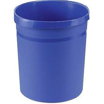 HAN Grip 18190-14 Odpadkový koš 18 l (Ø x H) 312 mm x 350 mm Polypropylenová modrá 1 ks