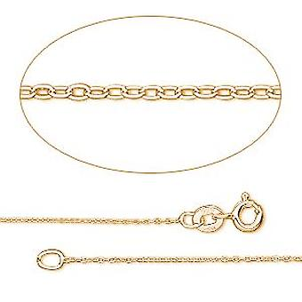 GEMSHINE 585 Gold Necklace 1.5 mm Anchor Chain in lengths from 40 to 76 cm