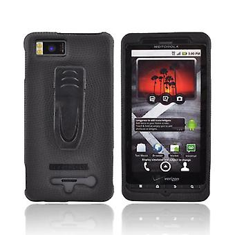Kroppen handske Snap-On fallet för Motorola Droid X MB810 (svart) (Bulk förpackning)